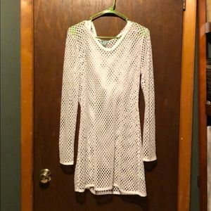 White bathing suit cover up never worn